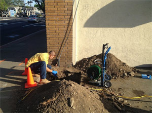 due to tree roots the damaged sewer line was fixed by our Daly City trenchless sewer repair team