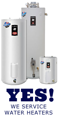 Yes! Our plumbers service water heaters
